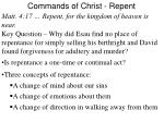 Commands of Christ - Repent