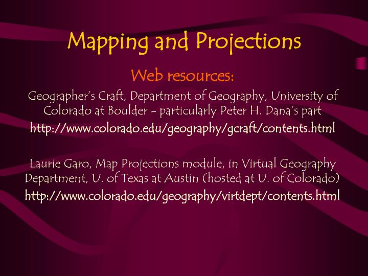 mapping and projections n.