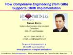 How Competitive Engineering (Tom Gilb) Supports CMMI Implementation
