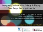 Designing Software for Elderly Suffering from Cognitive Impairments