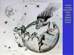 Comet cartoon from 1857: Will a comet impact destroy Earth?