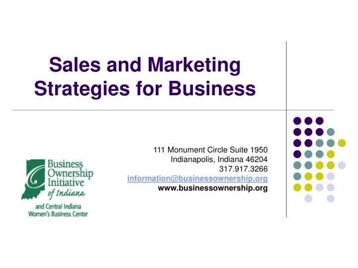 sales and marketing strategies for business n.