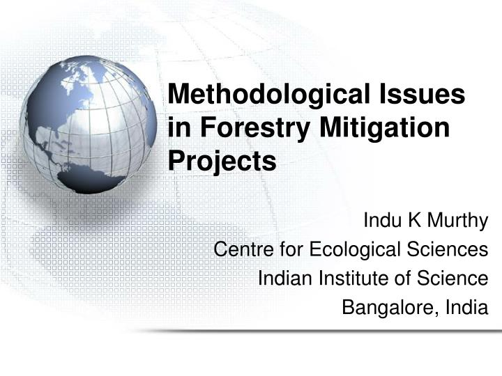 methodological issues in forestry mitigation projects n.