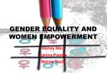 GENDER EQUALITY AND WOMEN EMPOWERMENT