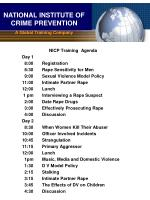 NATIONAL INSTITUTE OF CRIME PREVENTION A Global Training Company