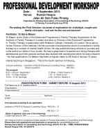REGISTRATION FORM – SUBMIT BEFORE 15 August 2013