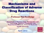 Mechanisms and Classification of Adverse Drug Reactions
