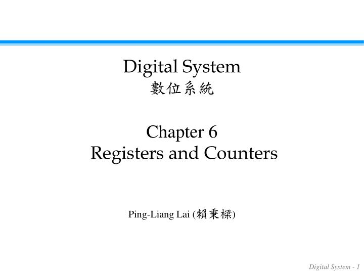 chapter 6 registers and counters n.