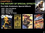 Chapter 1: The History of Special Effects
