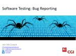 Software Testing: Bug Reporting