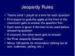 Jeopardy Rules