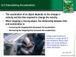 9.2 Calculating Acceleration