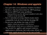 Chapter 14: Windows and applets