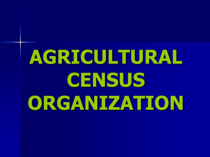 agricultural census organization n.