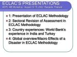 ECLAC'S PRESENTATIONS ADPC-WB Workshop - August 13-15, 2002 / Bangkok, Thailand