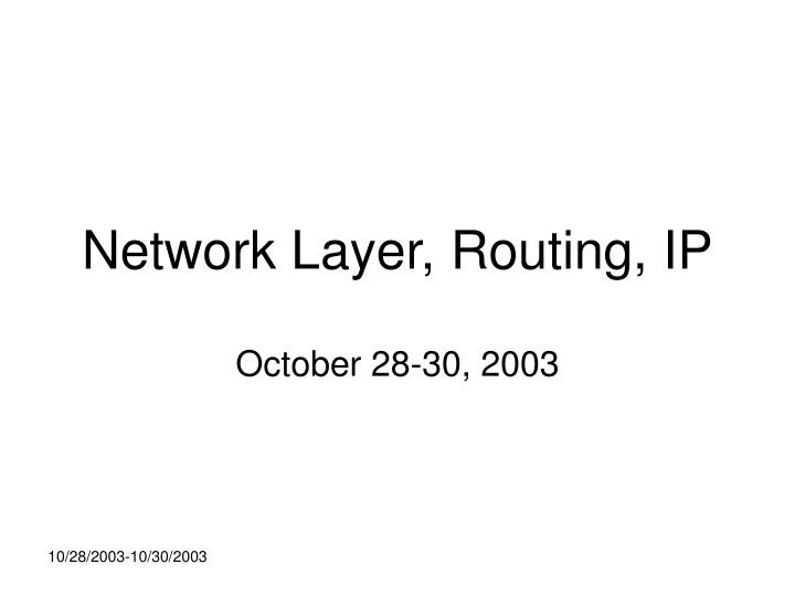 network layer routing ip n.