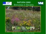 NATURA 2000 Bird areas in Slovakia
