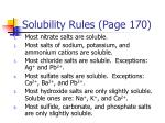 Solubility Rules (Page 170)