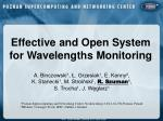Effective and Open System  for Wavelengths Monitoring