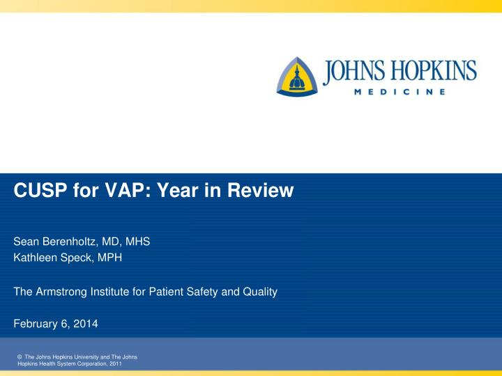 cusp for vap year in review n.