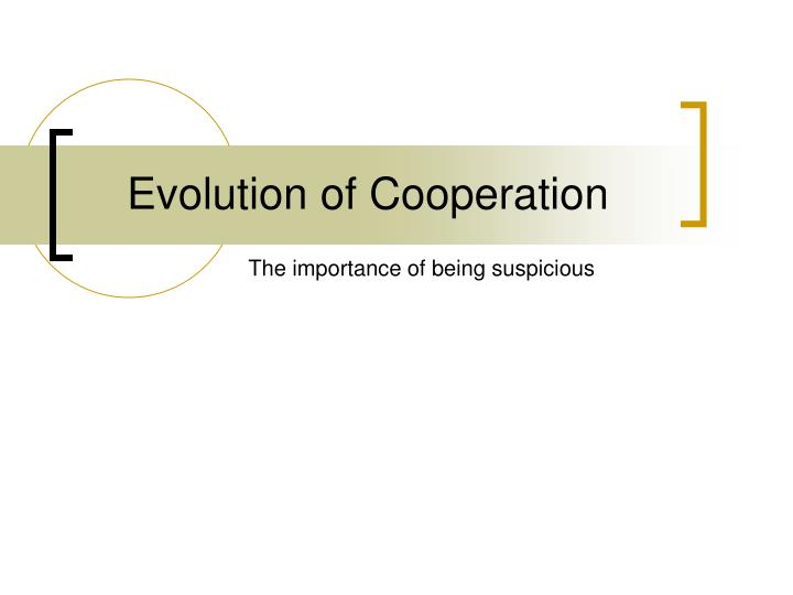 evolution of cooperation n.