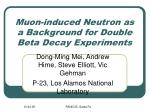 Muon-induced Neutron as a Background for Double Beta Decay Experiments