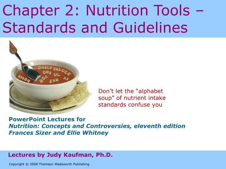 chapter 2 nutrition tools standards and guidelines n.