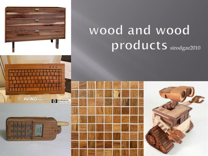 wood and wood products n.