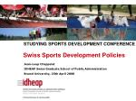 Swiss Sports Development Policies