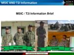 MSIC AND T2i Information