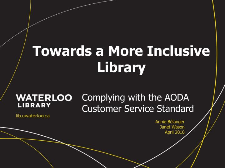 towards a more inclusive library n.