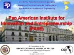 Pan American Institute for Innovation and Entrepreneurship (PAIIE )