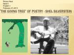 """ The Giving Tree"" of Poetry - Shel silverstein"