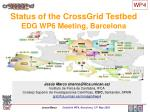 Status of the CrossGrid Testbed EDG WP6 Meeting, Barcelona