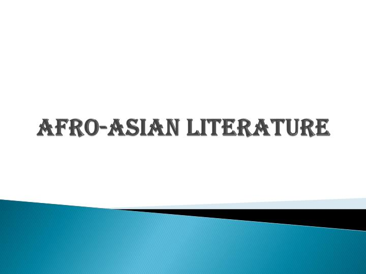 afro asian literature n.