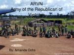ARVN Army of the Republican of Vietnam