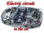 Electric circuit in the car