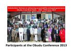Participants at the Obudu Conference 2013
