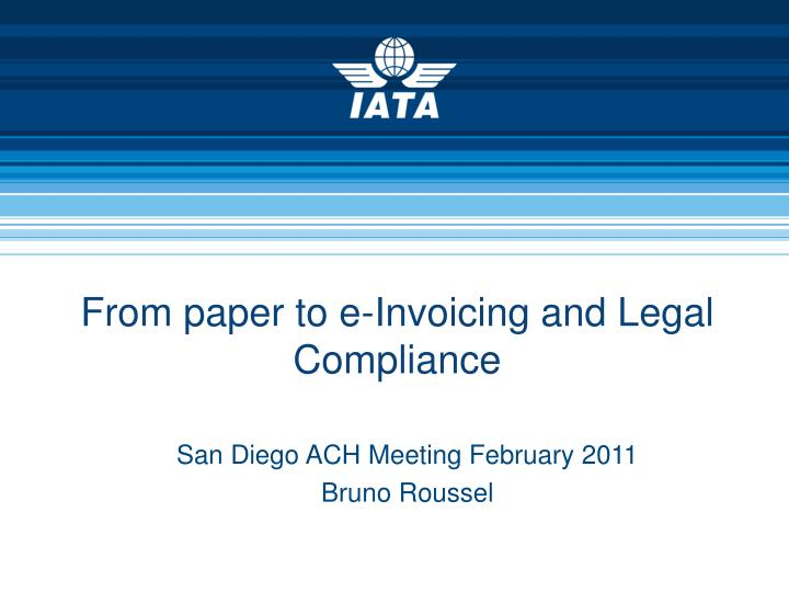 from paper to e invoicing and legal compliance n.