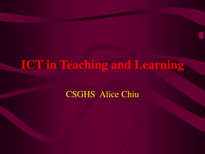 ict in teaching and learning n.