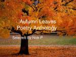Autumn Leaves Poetry Anthology