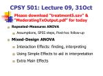 CPSY 501: Lecture 09, 31Oct