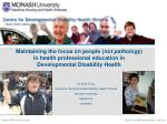 Maintaining the focus on people ( not pathology ) in health professional education in