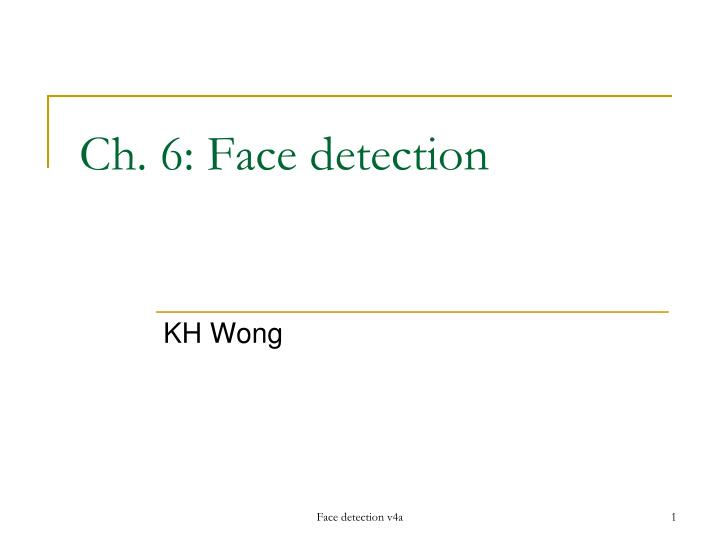 ch 6 face detection n.