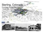 Sterling, Colorado Downtown Master Plan Concepts