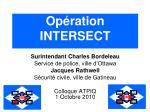 Opération INTERSECT