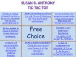 Write 5 interview questions toc  ask  Susan B. Anthony