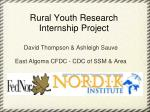 Rural Youth Research Internship Project