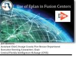 Use of Eplan in Fusion Centers