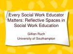 Every Social Work Educator Matters: Reflective Spaces in Social Work Education